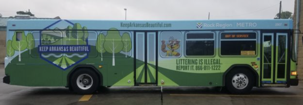 Keep Arkansas Beautiful bus
