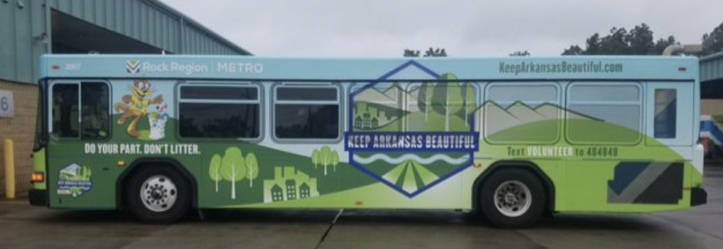 Keep Arkansas Beautiful bus side